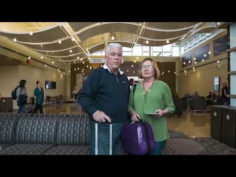 Check out the airport produced commercials which feature the terminal