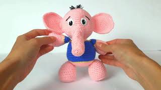 Слоник крючком. Вязаный слоник. Crochet elephant. Игрушки крючком