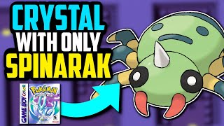 CAN YOU BEAT POKÉMON CRYSTAL WITH ONLY A SPINARAK?! (No Items In Battle Challenge)