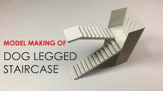 HOW TO Make A Model Of Doglegged STAIRCASE -easy Way