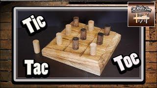 Kinderspiel  Selber machen  DIY   Tic Tac Toe    Brettspiel