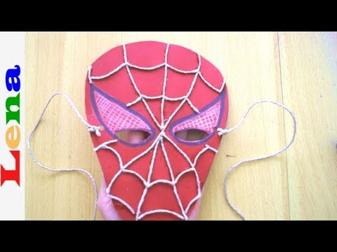 Spiderman Maske basteln aus Papier 🕷 How to make Spiderman Mask ✂ как сделать маску из бумаги