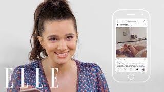 Katie Stevens stalke ses co-stars sur instagram pour le magazine ELLE