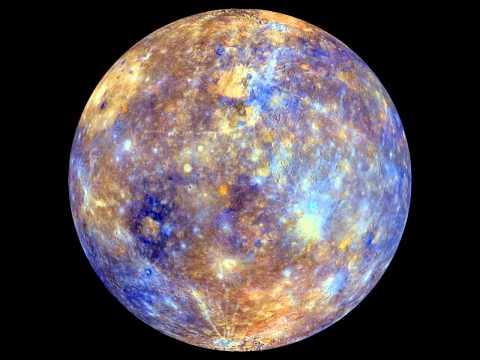 Rotating Mercury Map