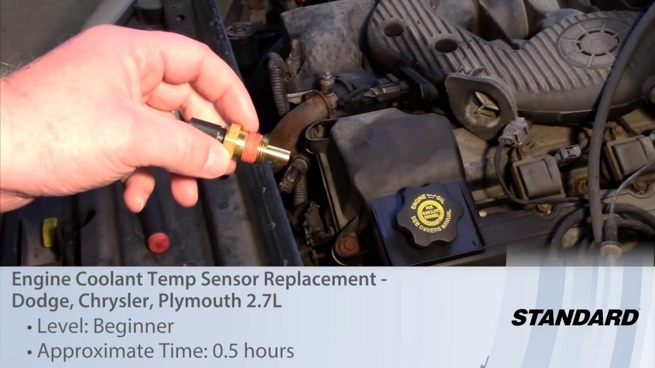 Engine Coolant Temp Sensor Replacement Dodge Chrysler Plymouth 2 7l