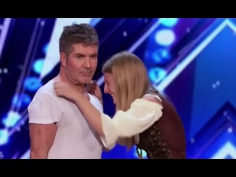 Simon Cowell Shows Amazing HEART Steps In To Save Dog Trainer   America's Got Talent 2017