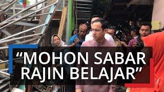 Nadiem Blusukan ke Sekolah Roboh di Bogor, Masih Tetap di Tenda: Mohon Sabar dan Rajin Belajar