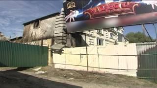 В Воронеже демонтировали рекламный щит и спалили дом