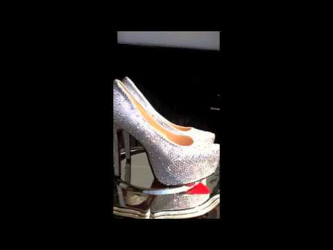 SeXy ☆ LUXUS ☆ High Heels ☆ Pumps ☆ Rote Sohle ☆ Plateau ☆ Absatz 14cm ☆ Diamants ☆ Strass ☆