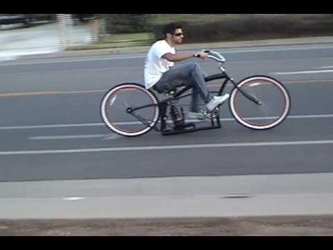 Custom Beach Cruiser Bicycle with Air Ride Suspension