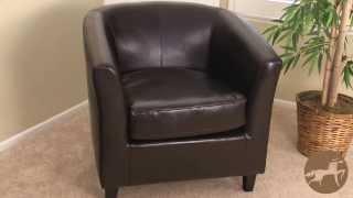 Plaza Preston Leather Club Chair