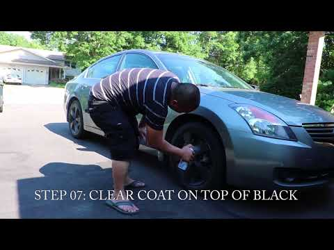PLASTI DIP MY ALTIMA'S WHEEL