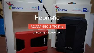 ADATA HD650 I ADATA HD710 Pro Unboxing - Benchmark - Transfer Test - Review