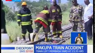Makupa causeway closed indefinitely after cargo train derailed spilling 3000 litres of super petrol