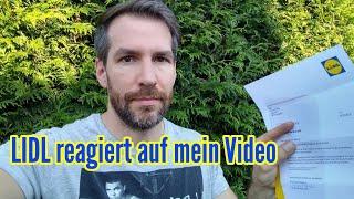 Mein Ärger mit LIDL Reaktion von LIDL auf mein Video Ich bin sauer auf LIDL