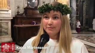 Luciatåg i Peterskyrkan