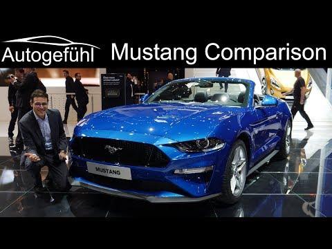 Ford Mustang 5.0 V8 Comparison: Bullitt vs Fastback vs Convertible Facelift - Autogefühl GIMS 2018