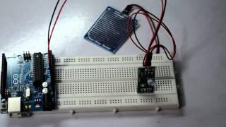 Rain Drop Sensor with arduino- Interface and Coding
