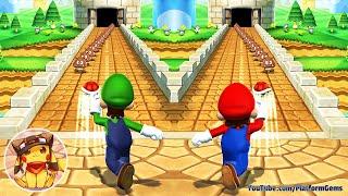 Mario Party 9 Step It Up - Mario vs Luigi vs Wario vs Waluigi (Hard)