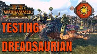 Testing the Dreadsaurian & Shredder of Lustria   The Hunter & The Beast - Total War Warhammer 2