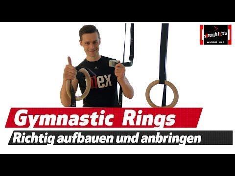 Gymnastikringe - Turnringe richtig aufhängen