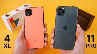Google Pixel 4 vs Apple iPhone 11 Pro Speed Test & Camera Comparison!