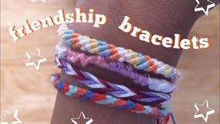 HOW TO MAKE EASY FRIENDSHIP BRACELETS! (3 TYPES)