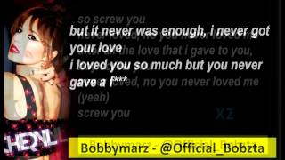 Cheryl - Screw You Ft Wretch 32 Lyrics