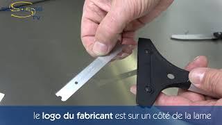Lames inox pour grattoir pour plaques et planchas GPC2510