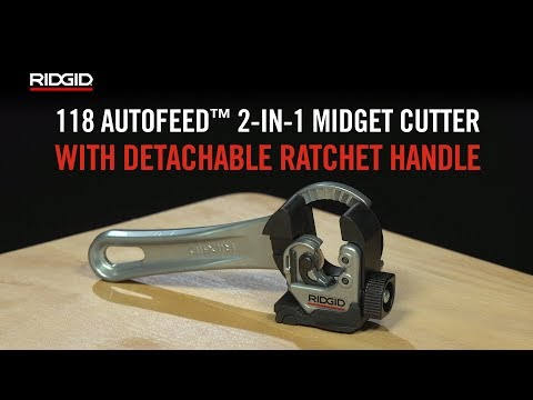 RIDGID Model 118 2-in-1 Midget Cutter with AUTOFEED