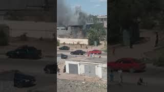 В Балхаше горели склады