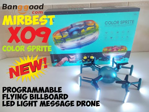Mirbest X09 Color Sprite Programmable Flying Billboard LED Light Message Drone