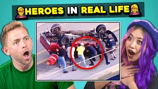 10 REAL LIFE HEROES Compilation (Faith In Humanity Restored) | Adults React