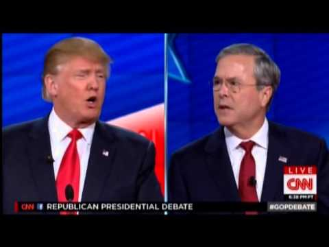 Jeb Bush Spars With Trump: 'I'm Talking Right Now'