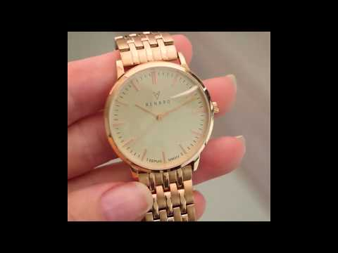 Renard Elite 35.5 ladies watch rose gold