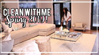 Clean With Me | Bedroom, Living Room and Dining Room | Spring 2019