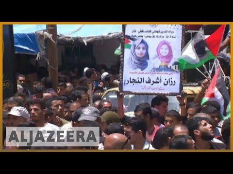 🇵🇸 Razan al-Najjar 'angel of mercy': Thousands attend funeral for Gaza medic | Al Jazeera English