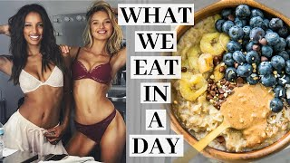 What we EAT in a DAY as Victoria's Secret Models