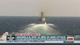 Aboard U.S. ship at risk of Iran attack