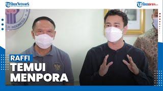 Raffi Ahmad Temui Menpora, Adakan Pertandingan Persahabatan Selebritis FC Vs Timnas Indonesia U-22?
