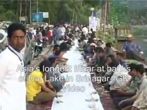 Asia's longest Iftaar at banks of Dal Lake in Srinagar