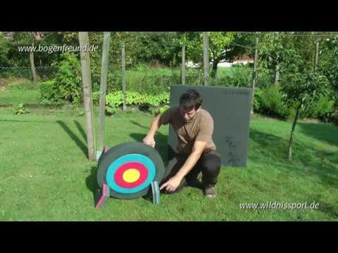 Zielscheibe Test: Elite Bogen 60x7cm rund - bis 45 lbs