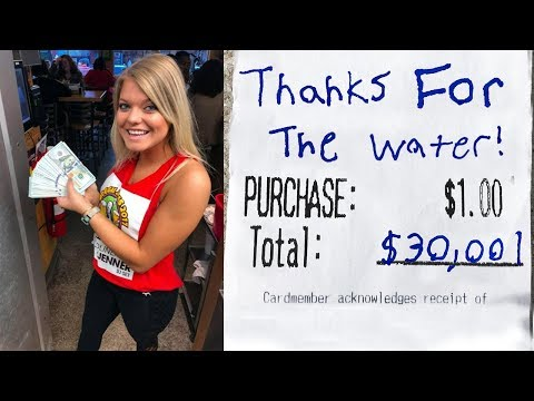 Ordering Water Then Tipping $30,000