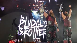 The Bludgeon Brothers stare down fans in Oberhausen