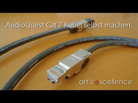 AudioQuest Cat 7 Kabel selbst machen mit Telegärtner Anschlüsse.