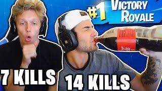 1 KILL ON FORTNITE = 1 SHOT OF ALCOHOL! (DRUNK FORTNITE WIN!)