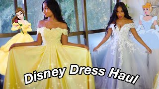 DISNEY PRINCESS DRESS INSPIRED TRY ON HAUL Ft. JJs House
