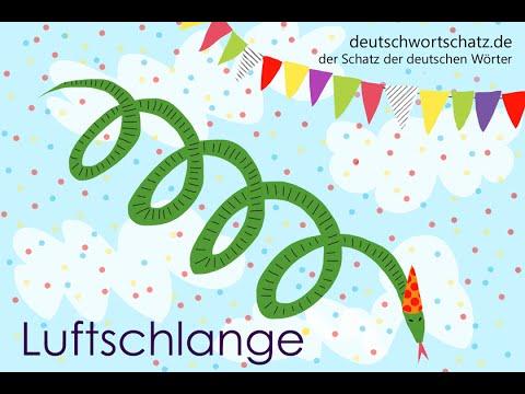 Luftschlange - Deutsch lernen - Wortschatz 0028