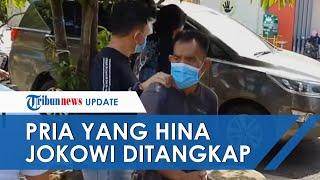 Detik-detik Seorang Pria Bangkalan yang Viral Hina Jokowi Ditangkap Polisi
