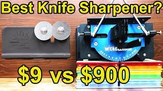 $9 vs $900 Knife Sharpener? Let's find out! Wicked Edge, Lansky, Edge Pro Apex, Spyderco, Rada